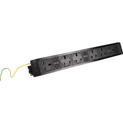 PowerData Technologies Under Desk Power Outlet 6 x Sockets - 23113 - from Toolstation