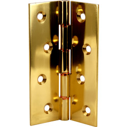 Eclipse Ironmongery Double Phosphor Bronze Washered Hinge Brass 102 x 67mm - 23135 - from Toolstation