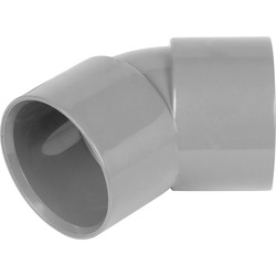 Aquaflow Solvent Weld Bend 135° 40mm Grey - 23148 - from Toolstation