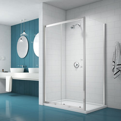 Merlyn Nix Merlyn NIX Sliding Shower Enclosure Door and Side Panel 1700 x 700mm - 23207 - from Toolstation