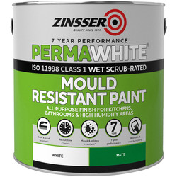 Zinsser Zinsser Perma White Self-Priming Interior Paint Matt White 2.5L - 23234 - from Toolstation