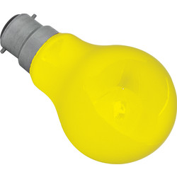 Coloured Lamp 25W BC Yellow 75lm - 23240 - from Toolstation