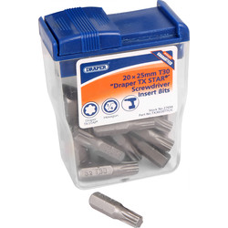 Draper Draper Torx Bit Set TX30 x 25mm - 23300 - from Toolstation