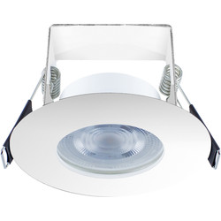 Integral LED Integral LED 3.8W Evofire+ IP65 Integrated Fire Rated Dimmable Downlight Chrome 400lm Cool White - 23355 - from Toolstation
