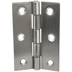 Stainless Steel Butt Hinge 75mm - 23411 - from Toolstation