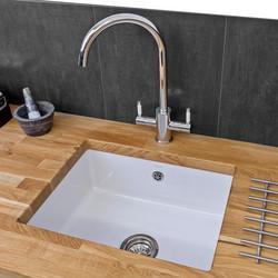 Reginox Undermount Ceramic Kitchen Sink & Drainer