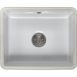 Reginox Reginox Undermount Ceramic Kitchen Sink & Drainer Single Bowl White - 23642 - from Toolstation