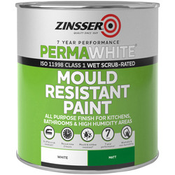 Zinsser Zinsser Perma White Self-Priming Interior Paint Matt White 1L - 23701 - from Toolstation