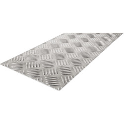 Checker Plate Metal Sheet 500mm x 250mm x 2mm - 23704 - from Toolstation