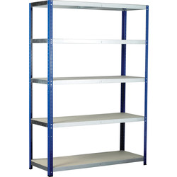 Barton Eco Shelving Bay with Chipboard Shelves 5 Tier 1760 x 1200 x 600mm - 23727 - from Toolstation