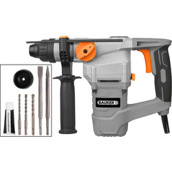 Bauker 1000W 26mm SDS Plus Rotary Hammer Drill 240V
