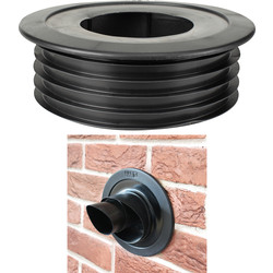 Pipesnug FlueSnug 100mm Black - 23885 - from Toolstation