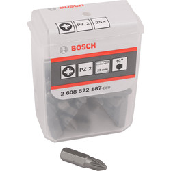 Bosch Bosch Screwdriver Bits PZ2 - 23894 - from Toolstation