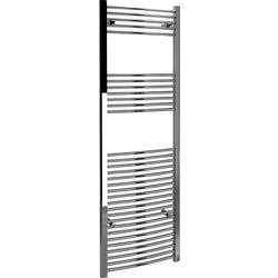 Kudox Kudox Chrome Curved Ladder Towel Radiator 1800 x 600mm 2010Btu - 23913 - from Toolstation