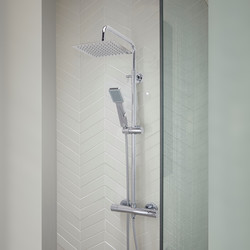 Nairn 2 Thermostatic Bar Diverter Mixer Shower