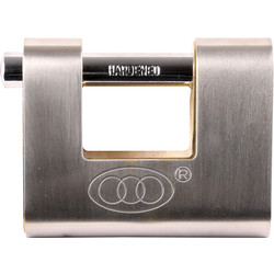 Tri Circle Tri-Circle Stainless Steel Armoured Shutter Padlock 80 x 12 x 21mm - 24038 - from Toolstation