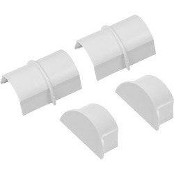 D Line Trade D-Line Coupler & End Cap Pack Maxi 2 x Coupler & 2 x End Cap - 24042 - from Toolstation