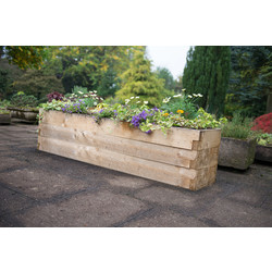 Forest Forest Garden Caledonian Trough Raised Bed 42cm (h) x 180cm (w) x 45cm (d) - 24075 - from Toolstation