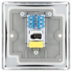 BG Polished Chrome Telephone Socket