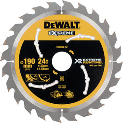 Dewalt DeWalt Extreme Runtime Circular Saw Blade 190mm x 30mm x 24T - 24132 - from Toolstation