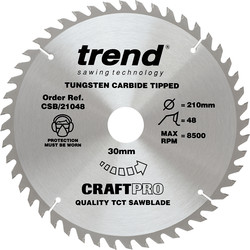 Craft Trend Craft Circular Saw Blade 210 x 48T x 30mm CSB/21048 - 24185 - from Toolstation