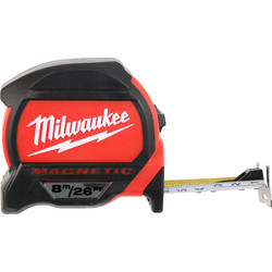 Milwaukee Milwaukee Premium Magnetic Tape Measure 8m/26ft - 24200 - from Toolstation