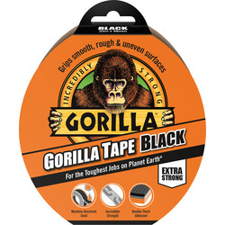 Gorilla Cloth Duct Tape Black 48mm x 32m