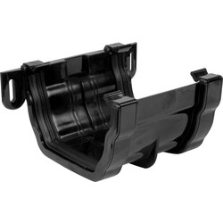 Aquaflow 120mm Ogee Union Bracket Black - 24223 - from Toolstation