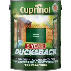 Cuprinol Cuprinol Ducksback Shed & Fence Treatment 5L Forest Green - 24226 - from Toolstation