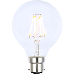 Inlight Vintage LED Filament G80 Globe Bulb Lamp 4W BC 350lm Clear - 24250 - from Toolstation