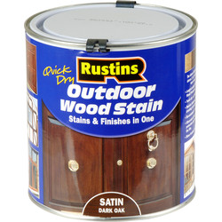 Rustins Quick Dry Outdoor Wood Stain Dark Oak 1L