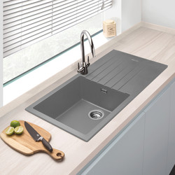 Granite Composite Single Bowl Kitchen Sink & Drainer