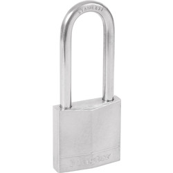 Master Lock Master Lock Marine Grade Nickel Plated Brass Padlock 40 x 6 x 52mm Extra Long Shackle - 24362 - from Toolstation