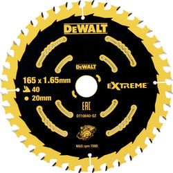 DeWalt DeWalt Extreme Cordless Circular Saw Blade 165 x 20mm - 24396 - from Toolstation