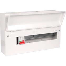 MK MK Metal 17th Edition Amendment 3 100A DP Consumer Unit 14 Way - 24397 - from Toolstation
