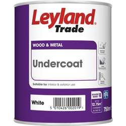 Leyland Trade Leyland Trade Undercoat Paint White 750ml - 24479 - from Toolstation
