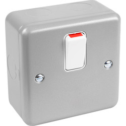 MK MK Metal Clad 20A DP Switch  - 24503 - from Toolstation