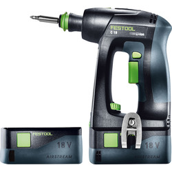 Festool Festool 18V Li-Ion C 18 Li  Cordless Drill Driver 2 x 5.2Ah - 24634 - from Toolstation