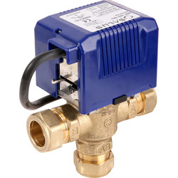 Salus SBMV 3 Port Motorised Valve 28mm