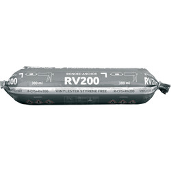 Rawlplug Rawlplug R-CFS+ RV200 Vinylester Styrene Free Resin 300ml - 24717 - from Toolstation