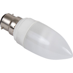 Sylvania Sylvania Energy Saving CFL Candle Lamp T2 9W BC 450lm A - 24776 - from Toolstation