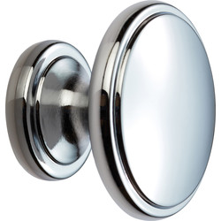 Carlisle Brass Oxford Knob 38mm Polished Chrome - 24876 - from Toolstation