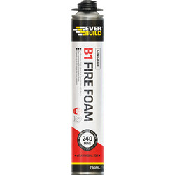 Everbuild B1 Fire Rated Expanding Foam Gun Grade 700ml - 24885 - from Toolstation