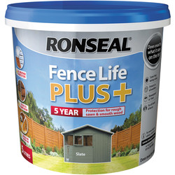 Ronseal Ronseal Fence Life Plus 5L Slate - 24944 - from Toolstation