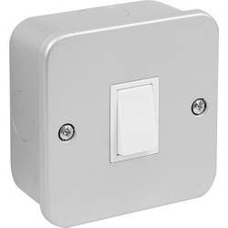 Axiom Metal Clad 10A Switch 1 Gang 2 Way