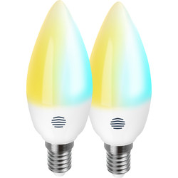 Hive Hive Active Light Cool to Warm White Smart LED Candle Bulb 5.8W SES (E14) 470lm - 25084 - from Toolstation