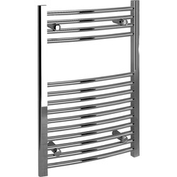 Kudox Kudox Chrome Curved Ladder Towel Radiator 750 x 500mm 761Btu - 25113 - from Toolstation