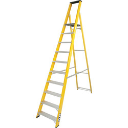 Lyte Ladders Lyte Heavy Duty Fibreglass Platform Step Ladder 10 Tread, Closed Length 3.00m - 25141 - from Toolstation