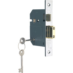 Yale BS 5 Lever Mortice Sashlock 76mm Pol. Chrome - 25226 - from Toolstation