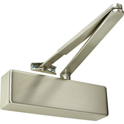 Rutland Rutland TS.3204 Door Closer Satin Nickel Size 2-4, With Cover - 25269 - from Toolstation
